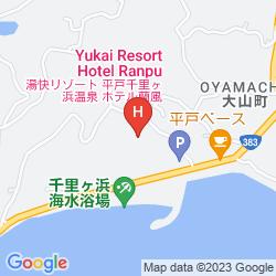 Map HIRADO SENRIGAHAMA ONSEN HOTEL RANPU