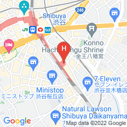 Map JR-EAST HOTEL METS SHIBUYA