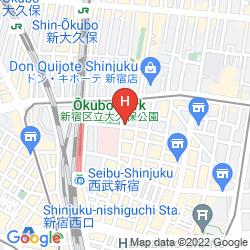 Map PREMIER HOTEL CABIN SHINJUKU