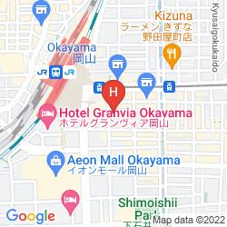 Map OKAYAMA WASHINGTON HOTEL PLAZA