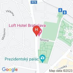 Map LOFT HOTEL BRATISLAVA
