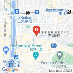 Map GION SHINMONSO