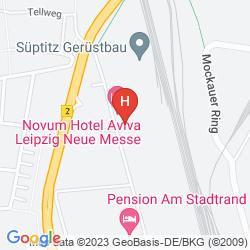 Map NOVUM HOTEL AVIVA LEIPZIG NEUE MESSE