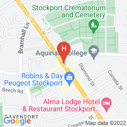Map PREMIER INN STOCKPORT SOUTH