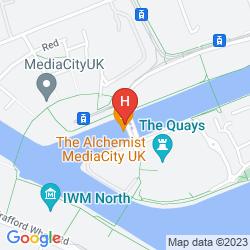 Map HOLIDAY INN MANCHESTER MEDIACITYUK