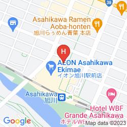 Map FUJITA KANKO WASHINGTON HOTEL ASAHIKAWA