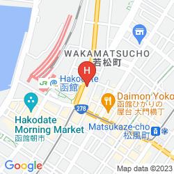 Map SMILE HOTEL HAKODATE