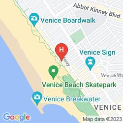 Map VENICE BEACH SUITES & HOTEL