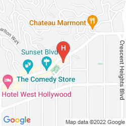 Map THE STANDARD, HOLLYWOOD