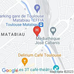 Map IBIS STYLES TOULOUSE GARE CENTRE MATABIAU