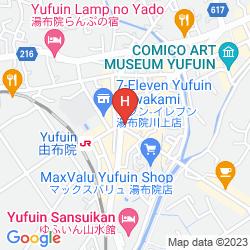 Map YUFUIN RYOAN WAZANHO