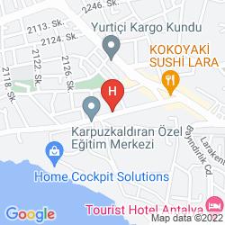 Map LARA DINC HOTEL
