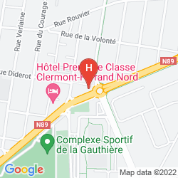 Map QUALITY HOTEL CLERMONT KENNEDY CLERMONT-FERRAND