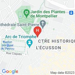 Map BEST WESTERN HOTEL LE GUILHEM