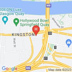 Map TRAVELODGE GLASGOW PAISLEY ROAD