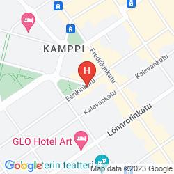 Map OMENAHOTELLI HELSINKI EERIKINKATU