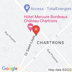 Map MERCURE BORDEAUX CHATEAU CHARTRONS