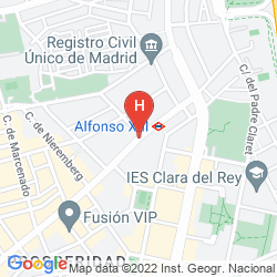 Map ILUNION SUITES MADRID