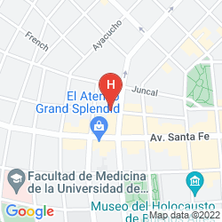 Map ARENALES 1837 APARTMENTS