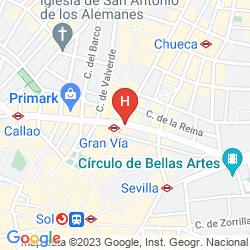 Map SENATOR GRAN VIA 21 HOTEL (ANTIGUO SENATOR GRAN VIA)