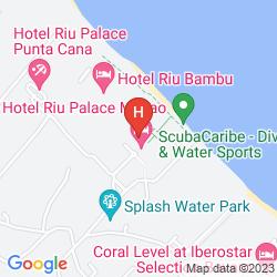 Map RIU PALACE BAVARO