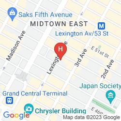 Map NEW YORK MARRIOTT EAST SIDE