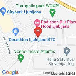 Map RADISSON BLU PLAZA HOTEL LJUBLJANA