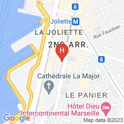 Map BEST WESTERN HOTEL DU MUCEM
