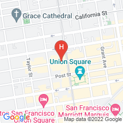 Map THE CARTWRIGHT HOTEL - UNION SQUARE, BW PREMIER COLLECTION