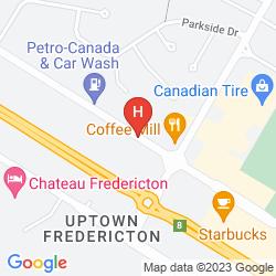Map HOWARD JOHNSON PLAZA HOTEL FREDERICTON