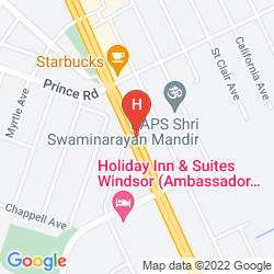 Map HAMPTON INN AND SUITES BY HILTON WINDSOR