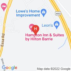 Map HAMPTON INN SUITES BY HILTON BARRIE