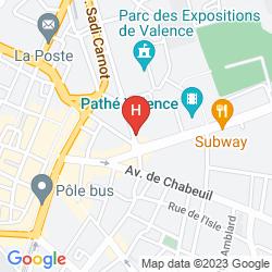 Map APPART'HOTEL HEVEA