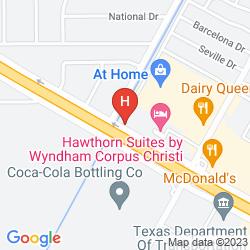 Map HAWTHORN SUITES BY WYNDHAM CORPUS CHRISTI