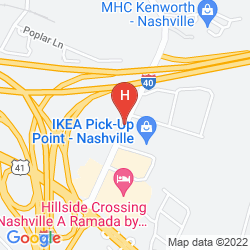 Map HOLIDAY INN EXPRESS HOTEL & SUITES NASHVILLE-I-40&I-24(SPENCE LN)