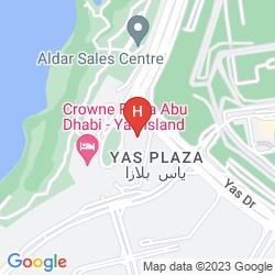 Map YAS ISLAND ROTANA - ABU DHABI