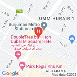 Map PARK REGIS KRIS KIN HOTEL DUBAI