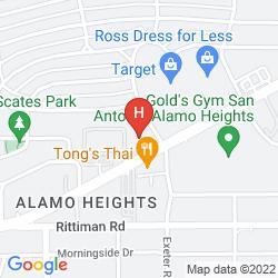 Map KNIGHTS INN SAN ANTONIO/FORT SAM HOUSTON