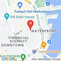 Map HILTON BOSTON DOWNTOWN/FANEUIL HALL