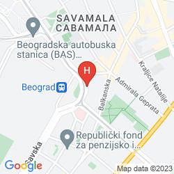Map BELGRADE CITY HOTEL