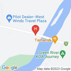 Map SUPER 8 GREEN RIVER