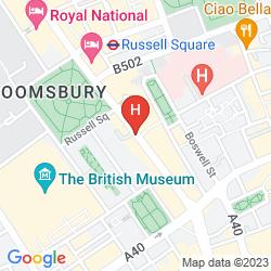 Map MERCURE LONDON BLOOMSBURY