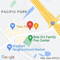 Map B/W SUNLAND PARK INN