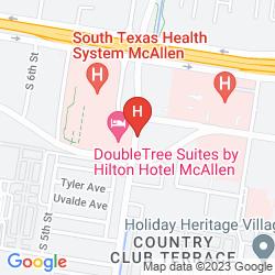 Map DOUBLETREE SUITES BY HILTON HOTEL MCALLEN