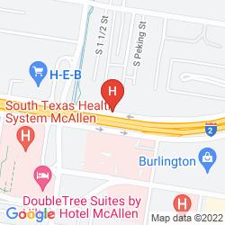 Map HAMPTON INN & SUITES MCALLEN