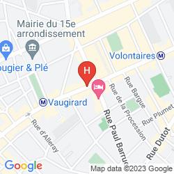 Map NOVOTEL PARIS VAUGIRARD MONTPARNASSE