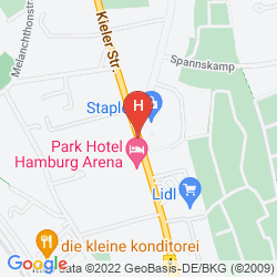 Map PARK HOTEL HAMBURG ARENA