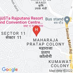 Map JUSTA RAJPUTANA, UDAIPUR RESORT