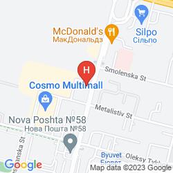 Map MERCURE KYIV CONGRESS