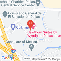 Map HAWTHORN SUITES BY WYNDHAM DALLAS/LOVE FIELD AIRPORT